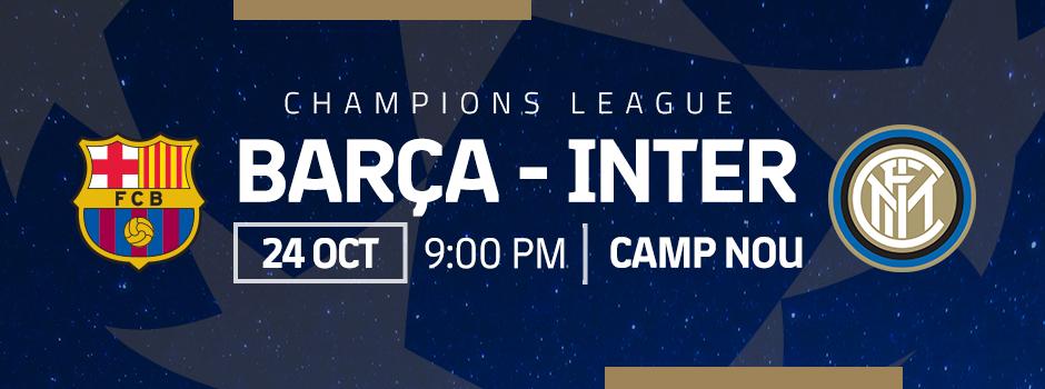 ENTRADAS VIP FC BARCELONA VS INTER