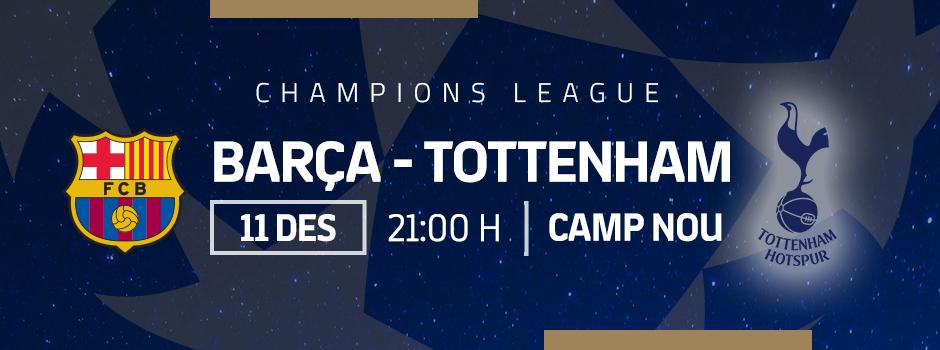 Compra entrades VIP FC BARCELONA VS TOTTENHAM
