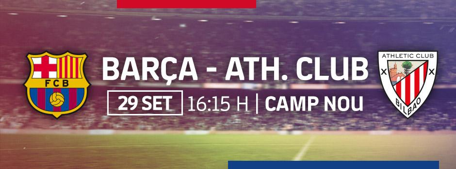 ENTRADES OFICIALS FCB vs ATH. BILBAO 18/19